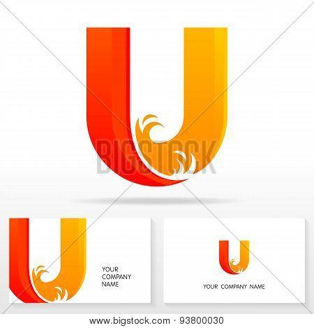 Letter U logo icon design template elements - Vector Illustration.