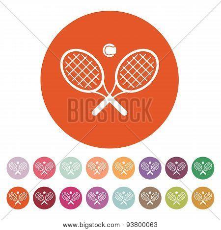 The Tennis Icon. Game Symbol. Flat