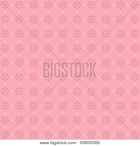 Retro Floral Patten In Pastel Tones