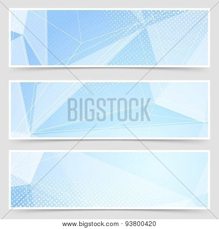 Crystal Header Collection Templates Set Design