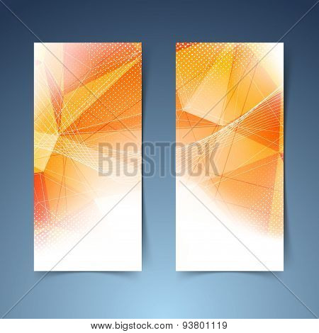 Bright Orange Crystal Structure Banner Set