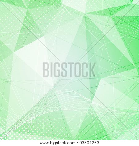 Green Crystal Pattern Dot Hi-tech Background