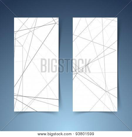 Abstract Modern Geometrical Hi-tech Banner Set