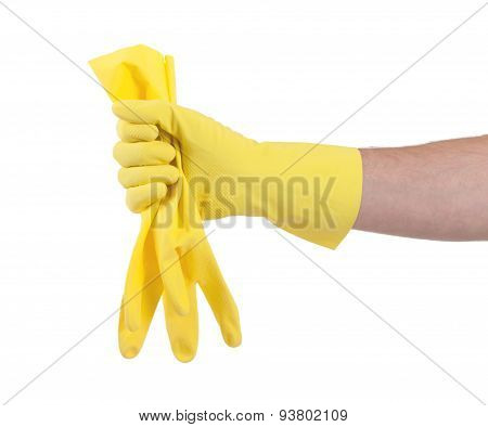 Rubber Glove Isolated