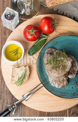 Liver Patties With Vegetables