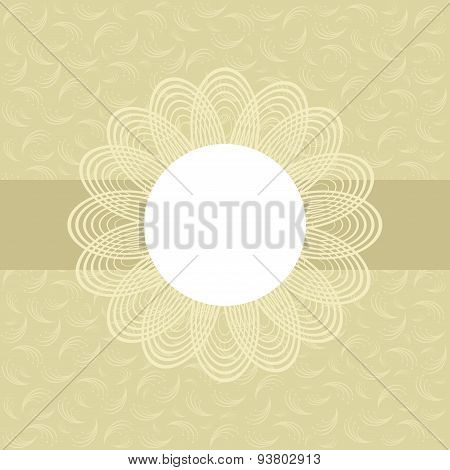 Floral Greeting Card In Pastel Tone