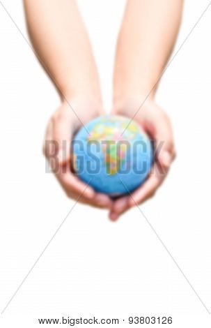 Blur short of Earth In Hands