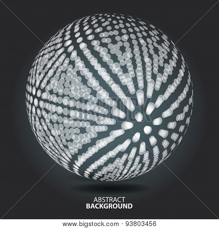 Abstract Background With Blur Dots And Lines On Theme Digital Te