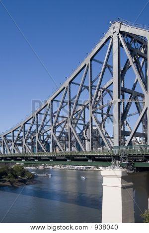 Portrait Shot Of River And Bridge