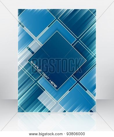 Abstract vector vackground for flyer, brochure or cover design