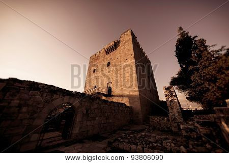 The medieval castle of Kolossi. Limassol District Cyprus