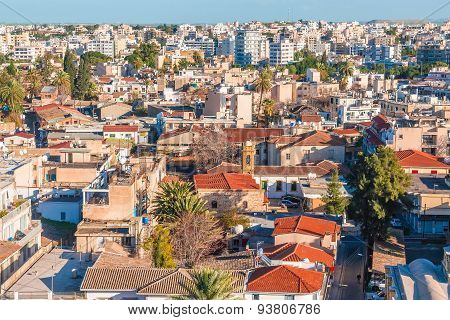 Aerial View Of Southern Part Of Nicosia. Cyprus