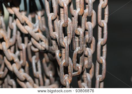 Rusty Chain Background
