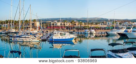Latchi - May 19 : Yachts In Harbor In Harbour On May 19, 2015 In Latchi Village, Cyprus.
