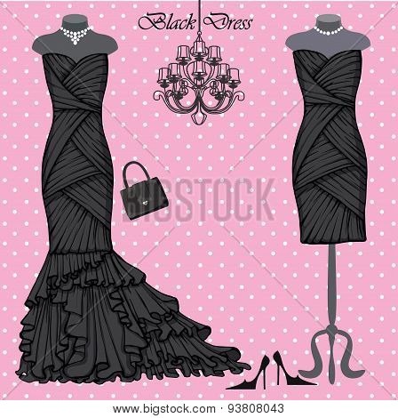 Set of  black dresses