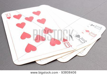 Game Card On Black Background