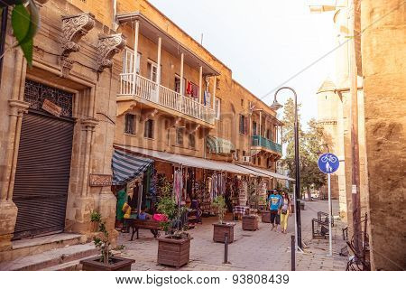 Nicosia - May 29 : Traditional Gift Shop At Selimiye Square On May 29, 2015