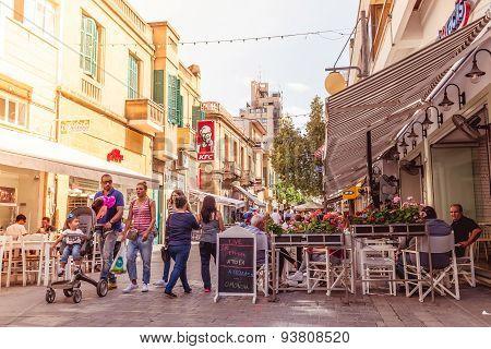 Nicosia - April 13 : Ledra Street, A Major Shopping Thoroughfare In Central Nicosia On April 13, 201