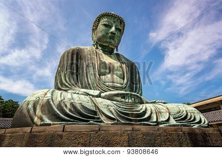 The Great Buddha Of Kamakura (kamakura Daibutsu), A Bronze Statue Of Amida Buddha In Kotokuin Temple