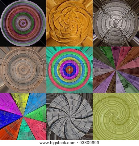 Set of Radial Textures