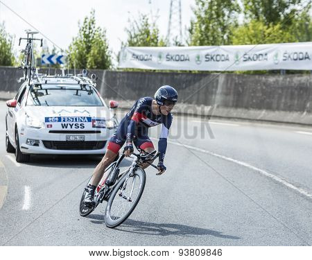 The Cyclist Marcel Wyss - Tour De France 2014