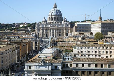 Papal Basilica of Saint Peter in the Vatican.