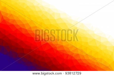 Colorful polygon vector background