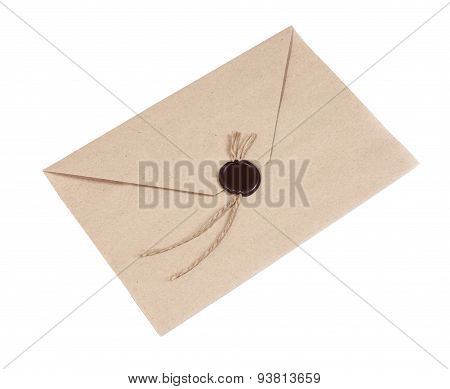 Envelope With Wax Seal - Stock Image