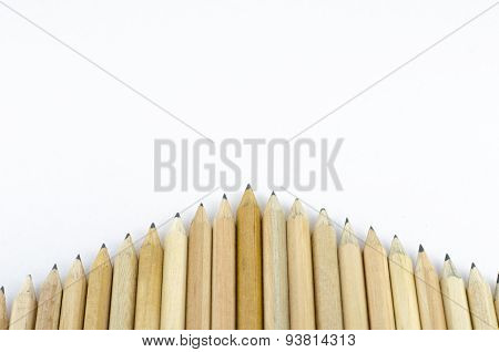 Wooden Pencil Isolated On White Background