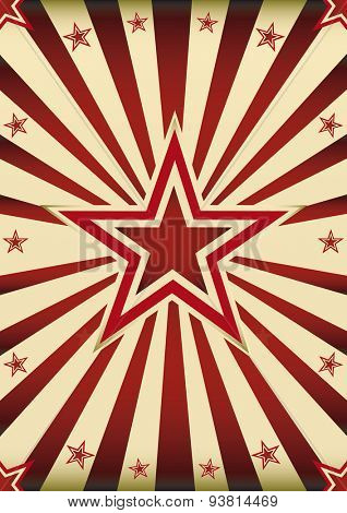 Star retro background. A vintage sunbeams background with a big star in the center