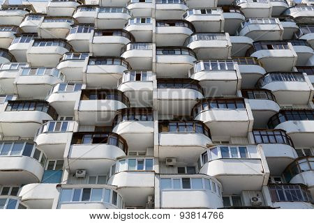 Rows Of Old Residential Window Urban Flats
