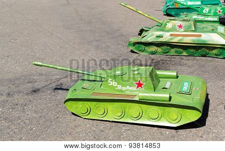 Remote Controlled Russian Tanks Waiting