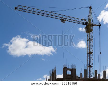 Construction Crane Hauling Cement