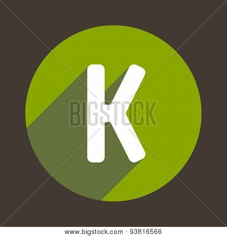 Letter K Logo Flat Icon Style. Vector