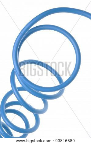 Blue electric cable used in electrical instalation