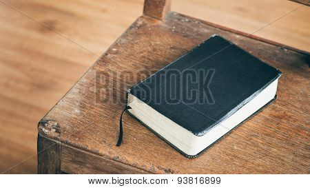 Bible On A Wooden Chair