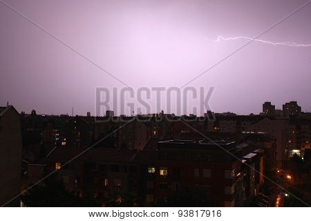 Lighting Over The City