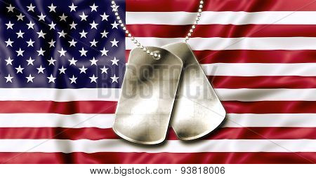Fourth July Dog Tags