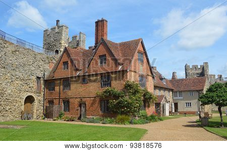 Framlingham castle and poorhouse Suffolk.
