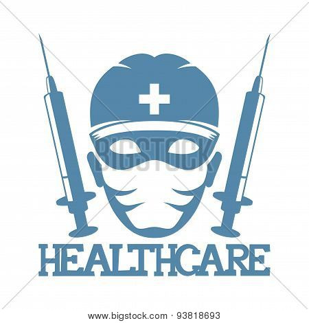 Vector sign. Health care.