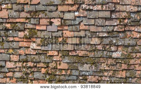 Very Old Roof Tiles Background