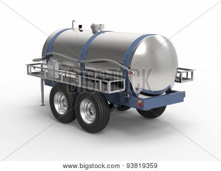 Liquide Container Trailer Isolated On A White Background