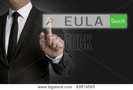 Eula Internet Browser Is Operated By Businessman