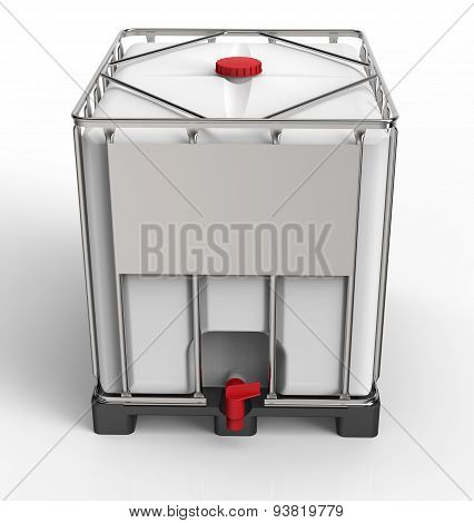 Liquide Bulk Container Isolated On A White Background