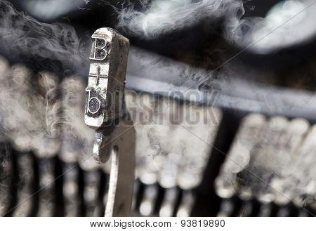 B Hammer - Old Manual Typewriter - Mystery Smoke
