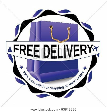 Free delivery sticker