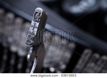 G Hammer - Old Manual Typewriter - Cold Blue Filter