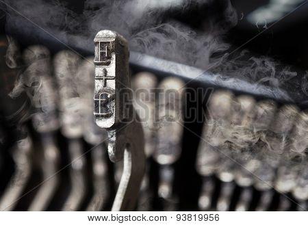 F Hammer - Old Manual Typewriter - Mystery Smoke
