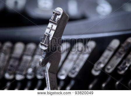 L Hammer - Old Manual Typewriter - Cold Blue Filter