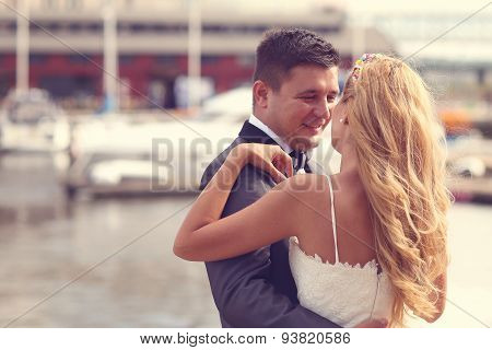 Love Bride And Groom Outdoor